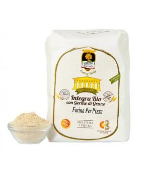 Farina PER PIZZA integra Bio con germe di grano (grano varietà antiche - semi-integra) - Dìaita - 1kg