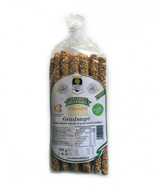 GrissIntegri - Grissini ottenuti con mix di grani antichi siciliani - BIO