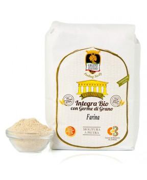 Farina integra al germe di grano (varietà moderne) BIO - Dìaita - 1kg