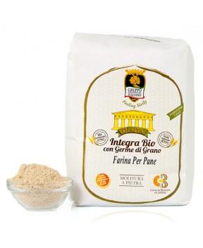 Farina PER PANE integra BIO con germe di grano (varietà antiche)  - Dìaita - 1kg