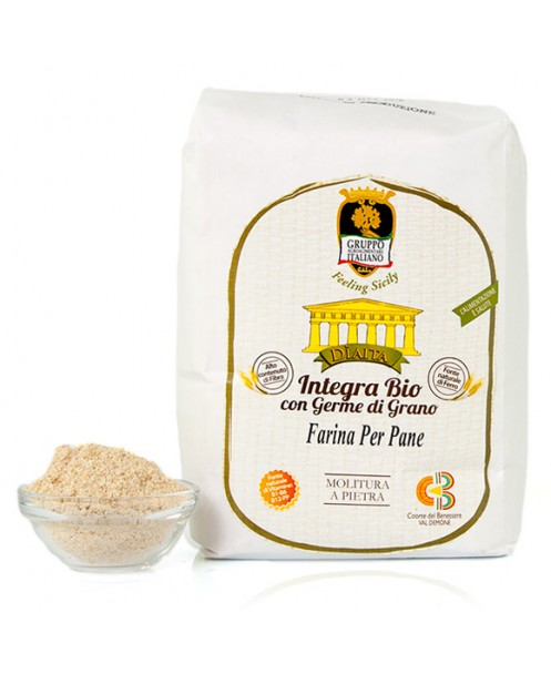 Farina per pane integra BIO con germe di grano (varietà antiche)  - Dìaita